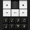 Sound control keyboard and music notes vector Royalty Free Stock Photo