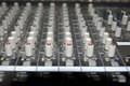 Sound editing console sliders Royalty Free Stock Photo