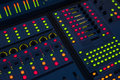 Sound engineer mixing board Royalty Free Stock Photo