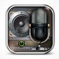 Sound icon Royalty Free Stock Photo