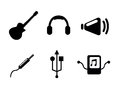 Sound icons over white background vector illustration Stock Image
