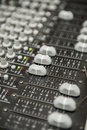 Sound mixer a close up photo of a multi channel Stock Images