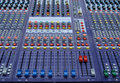 Sound mixer console Stock Photo