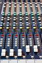 Sound mixer recording studio close up of Royalty Free Stock Photo