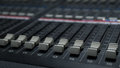 Sound Mixer in Tv Control Room Royalty Free Stock Photo