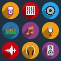 Sound and Music Icons Royalty Free Stock Photo