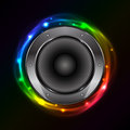 Sound speaker vector colorful background with Stock Photo