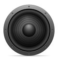 Sound speaker on a white background Stock Photos