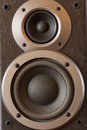 Sound speakers close-up. Audio stereo system macro Royalty Free Stock Photo