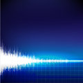 Sound wave abstract background on blue Stock Images