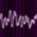 Sound wave abstract glowing colorful equalizer background Royalty Free Stock Image