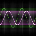 Sound wave abstract glowing colorful equalizer background Royalty Free Stock Photo