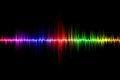 Sound wave background Royalty Free Stock Photo