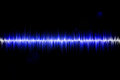 Sound wave blue and white on black background Royalty Free Stock Photography