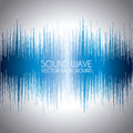 Sound wave design over gray background vector illustration Stock Images
