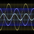 Sound wave forms Stock Photo