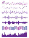 Sound wave multiple graphic design of audio visualize Stock Photo