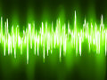 Sound waves oscillating on black background eps vector file included Stock Photography