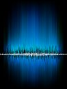 Sound waves oscillating on black background eps vector file included Stock Photo