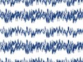Sound waves seamless pattern. Audio technology endless background, musical pulse repeating texture. Modern geometric