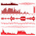 Sound waves set. Music background. EPS 8 Royalty Free Stock Image