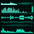 Sound waves set. Music background. EPS 8 Royalty Free Stock Photo