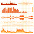 Sound waves set music background eps vector file included Stock Images