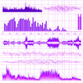 Sound waves set music background eps vector file included Stock Image