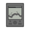 Sounder for fishing. icon flat, cartoon style. Isolated on white background. Vector illustration, clip-art. Royalty Free Stock Photo
