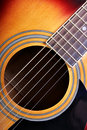 Sounding board of guitar Royalty Free Stock Photo