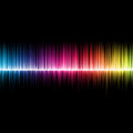 Soundwave a background design of music soundwaves multicoloured Royalty Free Stock Images