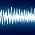 Soundwave bright sound wave on a dark blue background Royalty Free Stock Photo