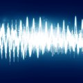 Soundwave bright sound wave on a dark blue background Royalty Free Stock Image