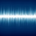 Soundwave bright sound wave on a dark blue background Stock Photo
