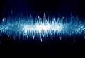 Soundwave bright sound wave on a dark blue background Royalty Free Stock Photos