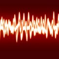 Soundwave bright sound wave on a soft red background Royalty Free Stock Images