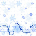 Soundwave & snowflakes Royalty Free Stock Images