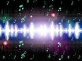 Soundwaves Background Mean Music Singing And Melodies