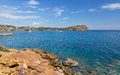 Sounio cape landscape, Attica, Greece Royalty Free Stock Photo
