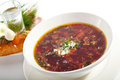 Soup beetroot and cabbage bowl Royalty Free Stock Photo