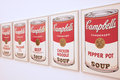 Soup cans Royalty Free Stock Photo