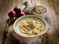 Soup with  chickpeas and pasta Royalty Free Stock Photos