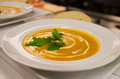 Soup with cream and vegetables Stock Photo