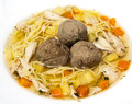 Soup with liver dumplings Royalty Free Stock Photo
