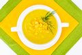 Soup of Mashed Potato with Corn Royalty Free Stock Photo