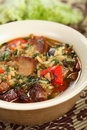 Soup with meat and rice Stock Images