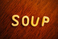 Soup pasta in letter shapes Stock Images