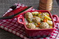 Soup with pork meat balls Royalty Free Stock Image