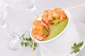 Soup with shrimps. Royalty Free Stock Images