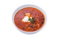 Soup solyanka russian national Royalty Free Stock Photo